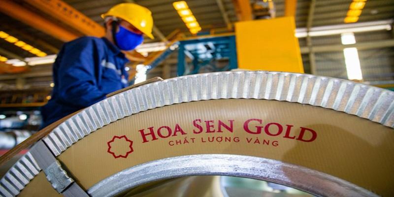 Tôn Hoa Sen Gold